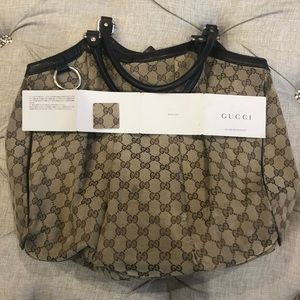 Gucci Sukey Monogram Tote Bag Large